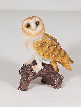 Unbekannt Eule Uhu Schleiereule Kauz Tierfigur Skulptur Deko Baum