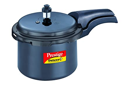 5ec160d5ae8 Image Unavailable. Image not available for. Colour  Prestige Deluxe Plus Hard  Anodized Outer Lid Pressure Cooker