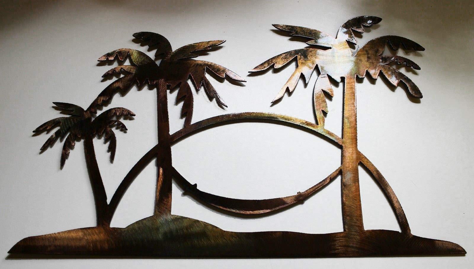 Tropical Palm Tree Metal Art Wall Decor