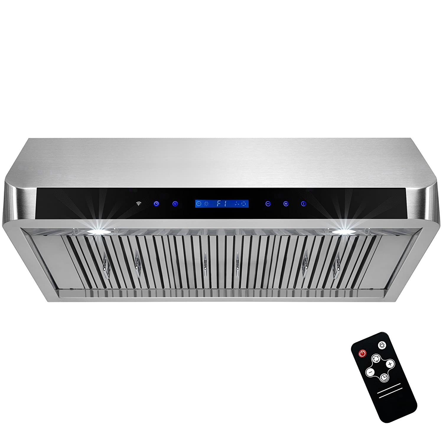AKDY 36 Under Cabinet Stainless Steel Range Hood Touch Panel Control w//Remote
