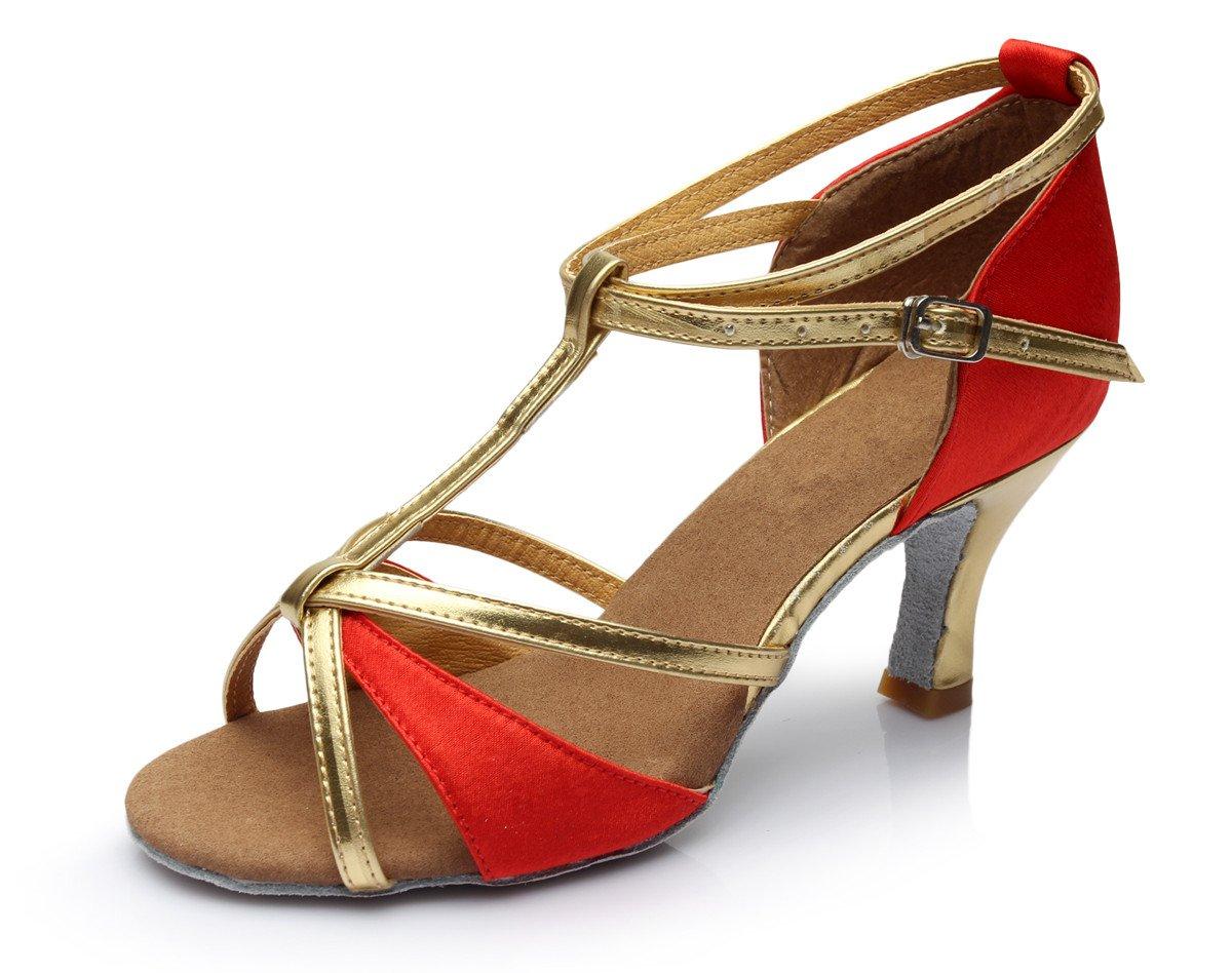 VESI-Chaussures de Danse Latine Talons Hauts Sandales pour Femme VZA0004