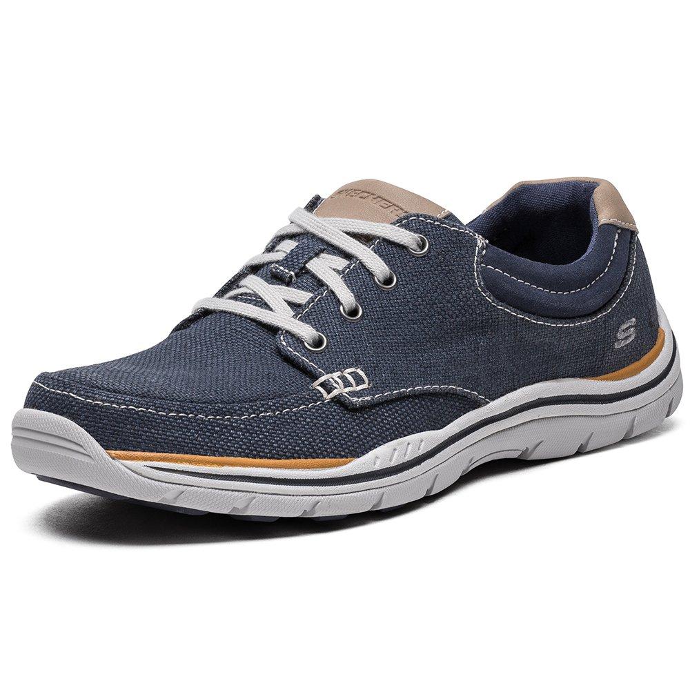 Herren Skechers Expected Orman Dunkelblau Canvas Sneakers