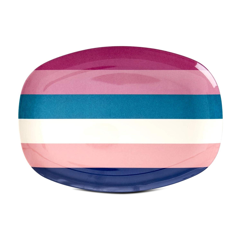 H/öhe 1,5 cm Rice Teller Set aus Melamin 50 Shades of Pink Durchmesser 20 cm