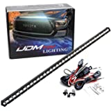 iJDMTOY Hood Scoop Mount 36-Inch LED Ultra Slim Light Bar Compatible with 2014-2021 Toyota Tundra, Includes (1) 108W High Pow