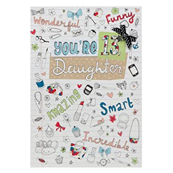 Hallmark 13th Birthday Daughter Kids Card
