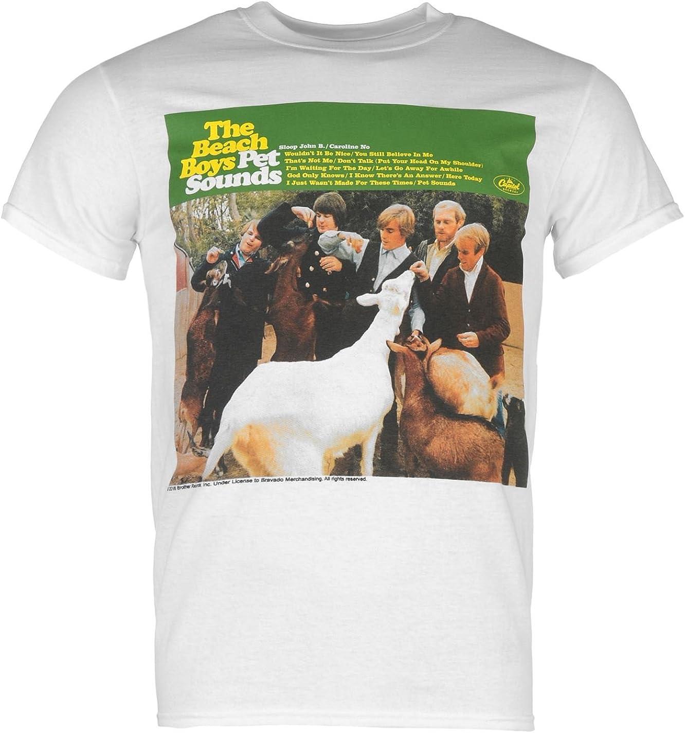 Men/'s The Beach Boys Pet Sounds Short Sleeve Black T-Shirt 100/% Cotton