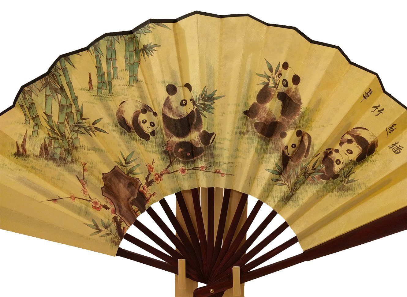 Amazon.com: BambooFul Folding Fan Chinese Gift Set! Panda Hand Held ...