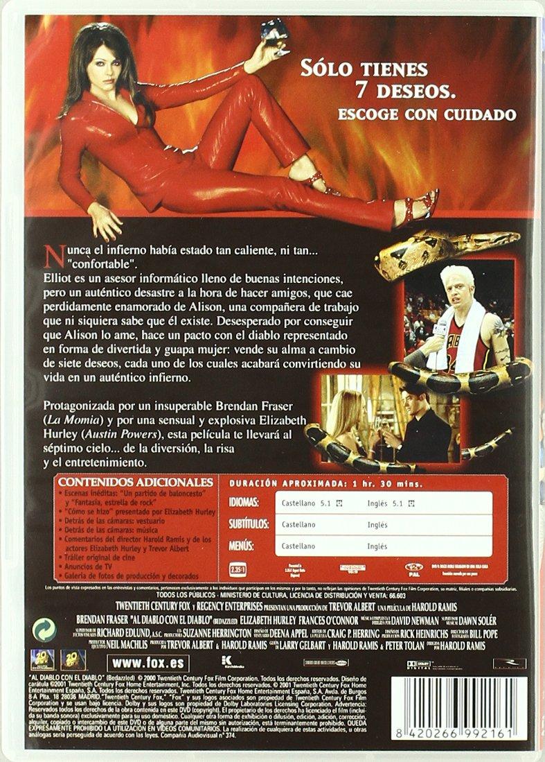 Al Diablo Con El Diablo [DVD]: Amazon.es: Brendan Fraser, Jeff Doucette, France OConnor, Rudolf Martin, Orlando Jones, Miriam Shor, Aaron Lustig, ...