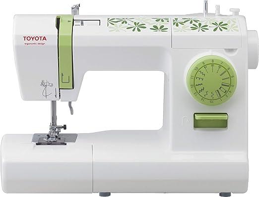 Toyota ECO15CG Máquina de Coser, Blanco y Verde: Amazon.es: Hogar