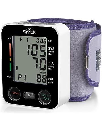 SIMBR Tensiómetro de muñeca Monitor de presión arterial Alta precisión y fiabilidad Gran pantalla LCD con