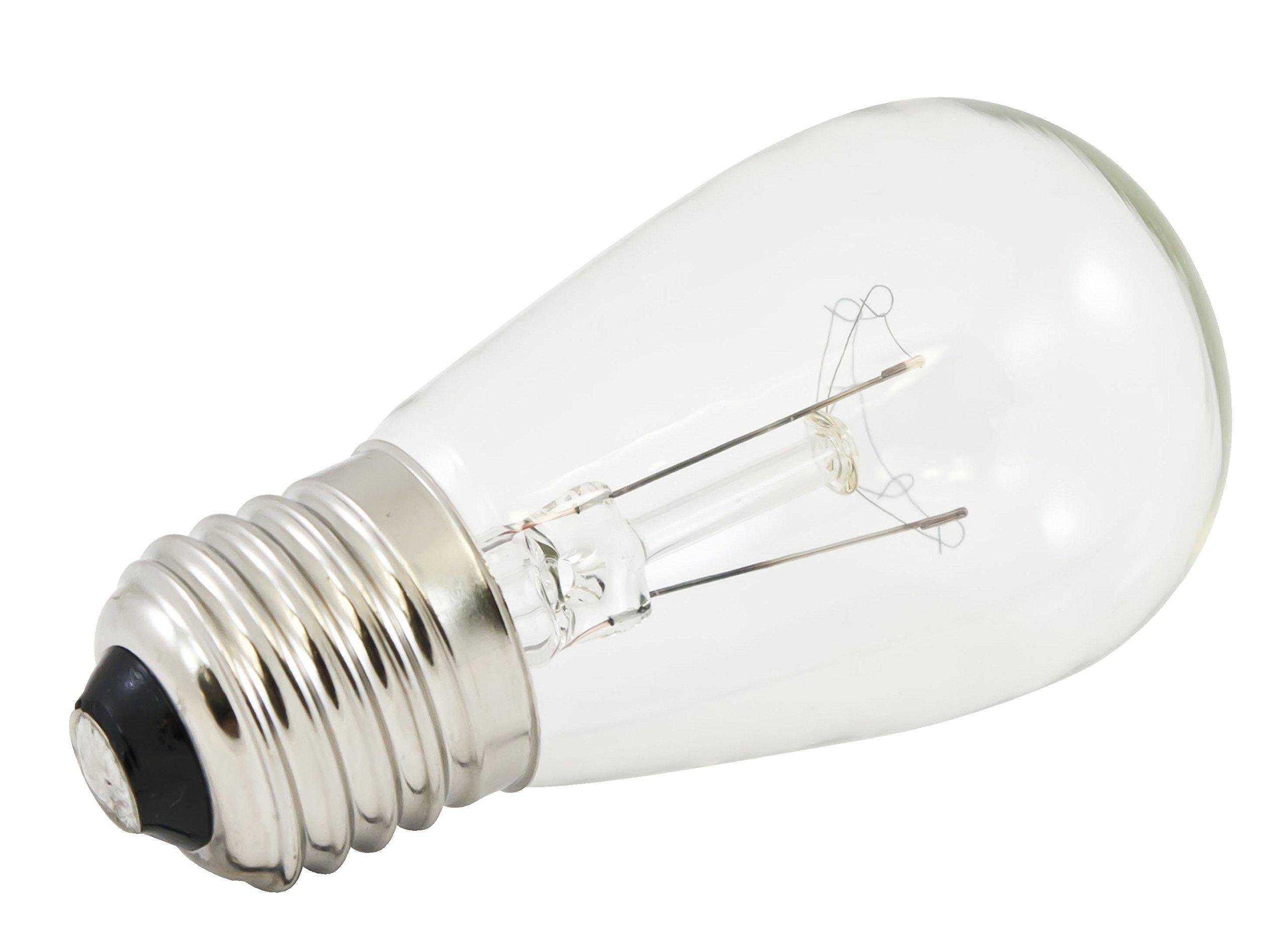 American Lighting B11S14-CL Incandescent S14 11-watt Medium Base Bulbs for LS-M-24 and LS-MS-24 Pavilion Light String Kits, Dark Bronze/Clear, 25-Pack