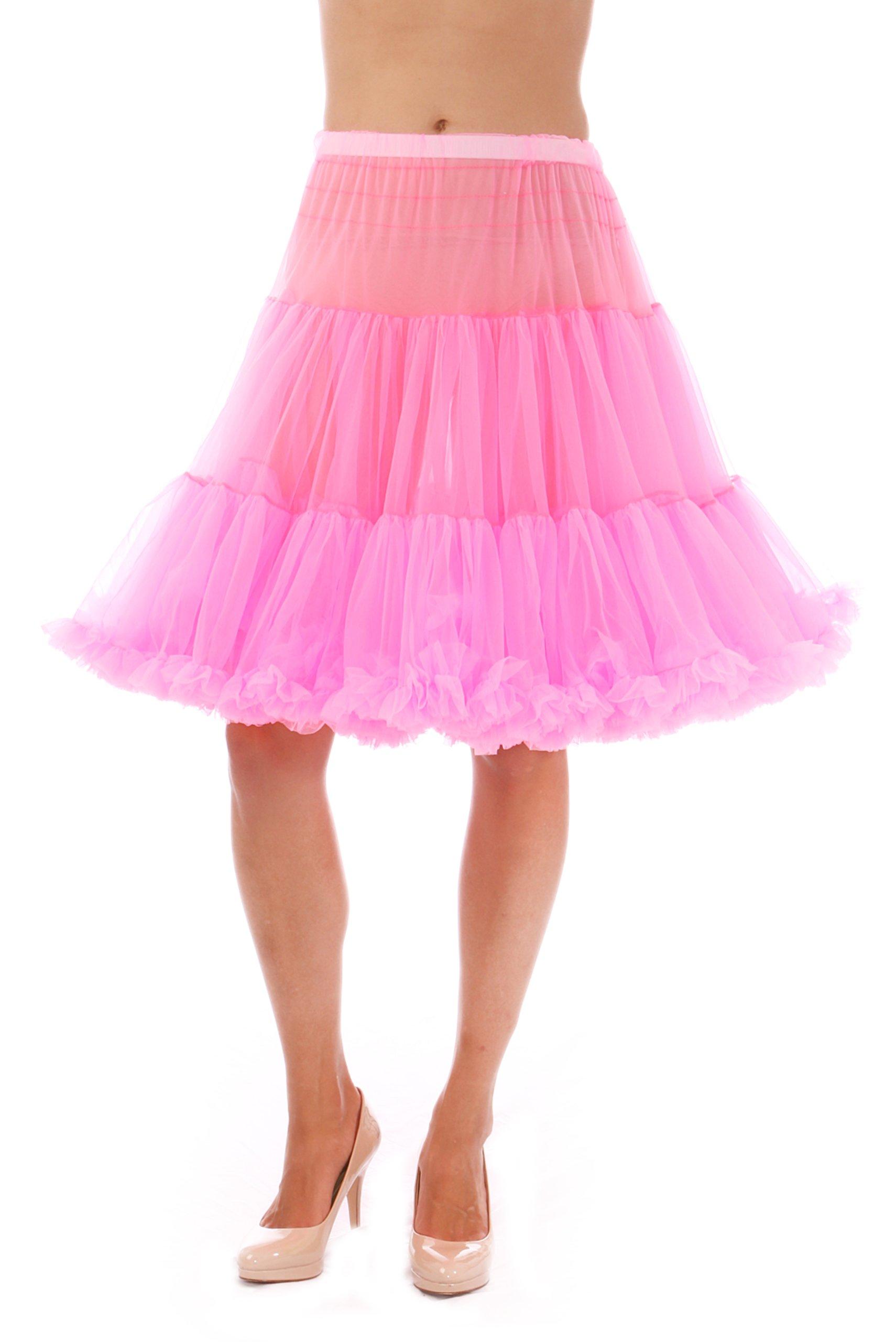 Malco Modes Luxury Vintage Knee-Length Crinoline Jennifer Petticoat Skirt Pettiskirt, Adult Tutu for Rockabilly 50s, Hot Pink, Medium by Malco Modes