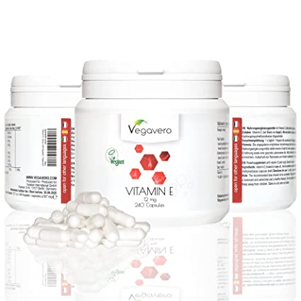 Vegavero vitamina E tocoferol | ideal dosis diaria | defensa para la piel protege las paredes