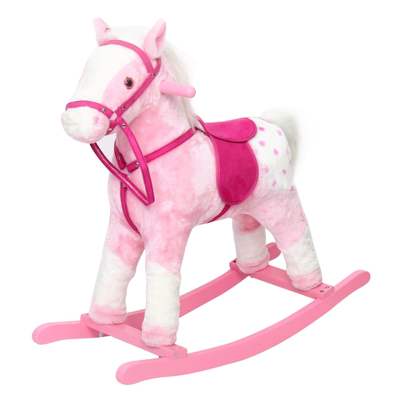 ピーチツリーベビーキッズPlush Toy Rocking Horse Pony withリアルなサウンド、ピンク   B077JMS75D