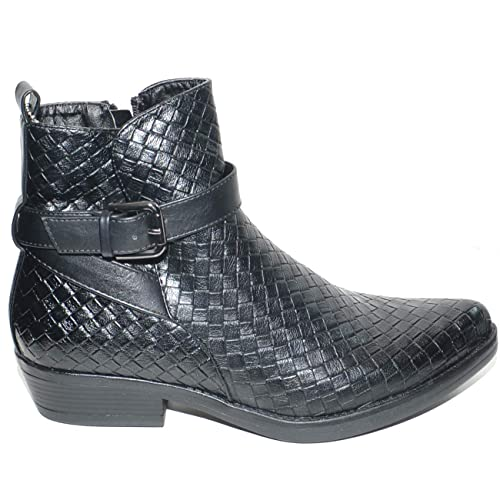Stivaletti Con Malu Punta A Shoes Donna Bassi Camperos Neri nX80wOZNPk