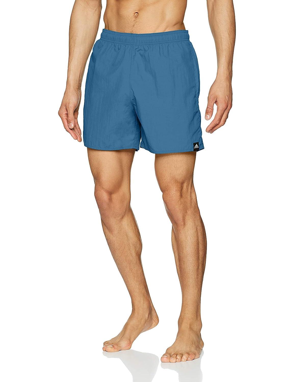 TALLA L. adidas Solid Swim Masculino Azul - Pantalones Cortos (Swim, Masculino, Adulto, Azul