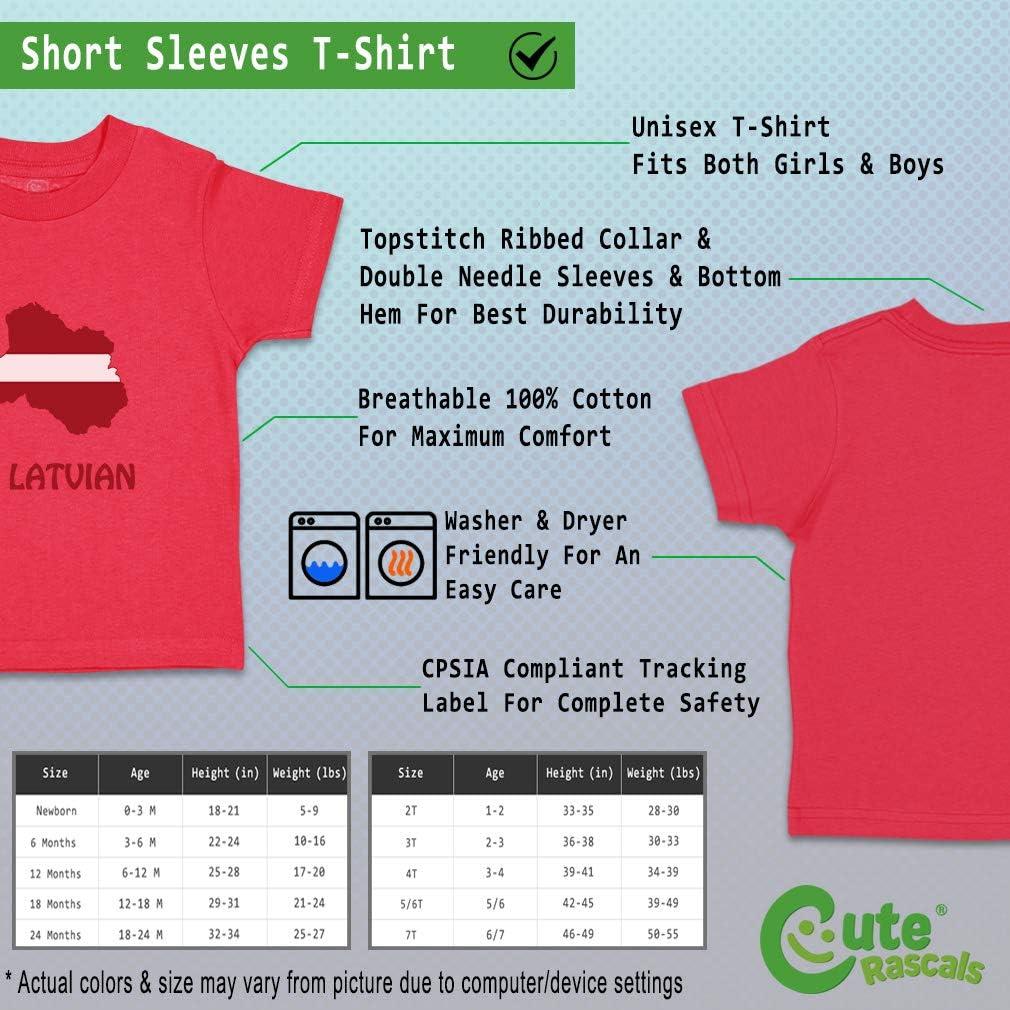 Custom Baby /& Toddler T-Shirt Little Latvian Cotton Boy Girl Clothes
