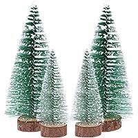 TOYANDONA Mini Christmas Tree White Cedar Desktop Tree for Christmas Ornament (3pcs 10cm Tree + 3pcs 15cm Tree)