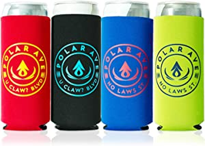 Neoprene Slim Can Cooler Sleeve for White Claw - 12, 16 oz Tall Beer Cans Iced Coffee, Michelob Ultra, Red Bull, Spiked Seltzer, Truly- Not a Boring Blank Neoprene Can Cooler…