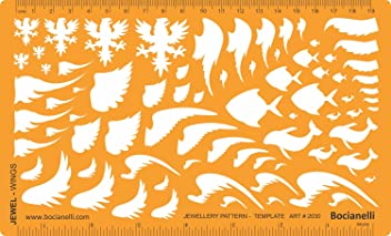 Jewellery Jewelry Art Craft Design Drawing Drafting Template Stencil - Birds Wings Fish Dolphin Shape Symbols