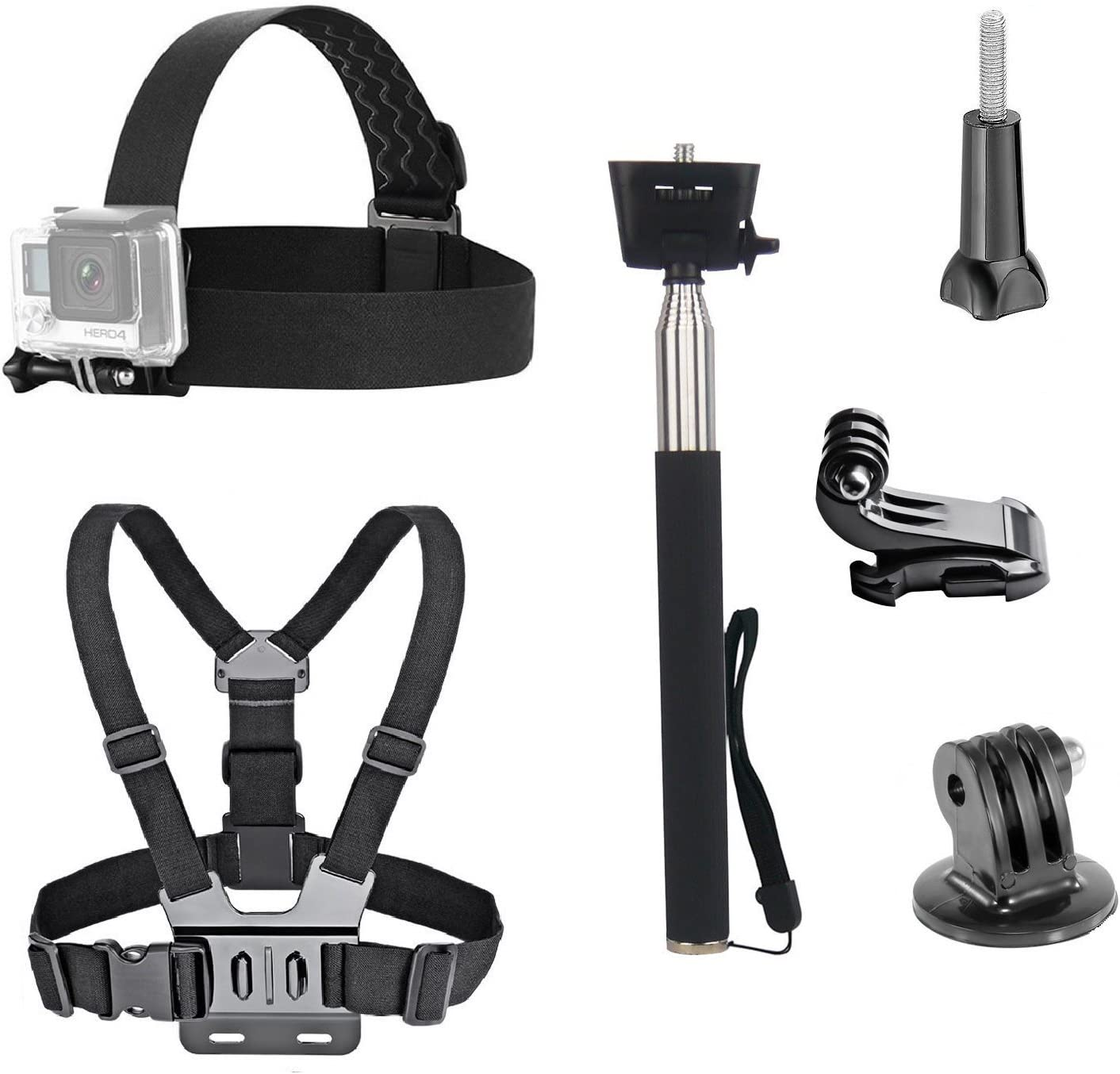 Navitech Action Camera Backpack /& 18-in-1 Accessory Combo Kit with Integrated Chest Strap Compatible with The Sony Action Cam HDR-AS15 Sony Action Cam HDR-AS30V