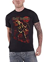 Iron Maiden T Shirt Benjamin Breeg Red Graphic Band Logo Official Mens Black