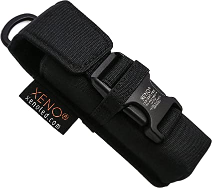 """Nylon Belt Holster Case For Tactical Flashlight Molle Pouch Up To 140 Mm//5.5/"""" Lo"""