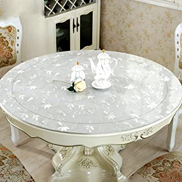 Amazoncom Round Tablecloth Waterproof Soft Glass Pvc Hotel Dining