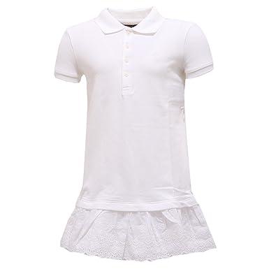 Bianco Ralph Robe Cm Blanc 122 Lauren Fille IWHYeED29
