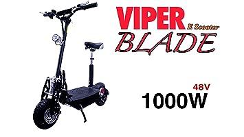 Scooter eléctrico Viper hoja 1000 W 48 V, negro: Amazon.es ...