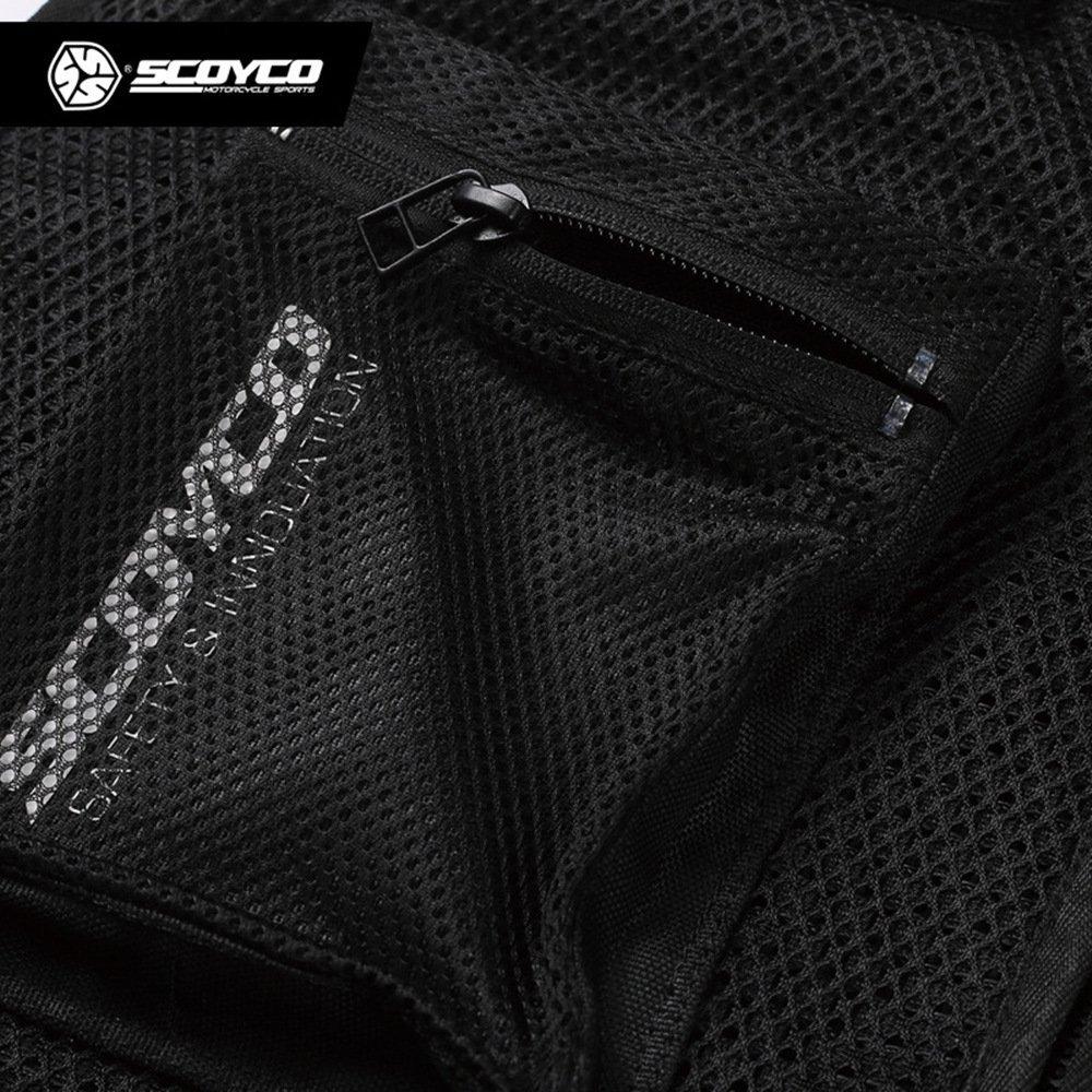 Scoyco JK46 Men's Motorcycle Auto Racing Vest (XL, Black) by SCOYCO (Image #3)