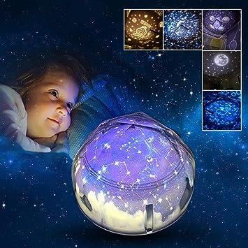DOOK Proyector Estrellas Lámpara Proyector Infantil 360°Giratorio ...