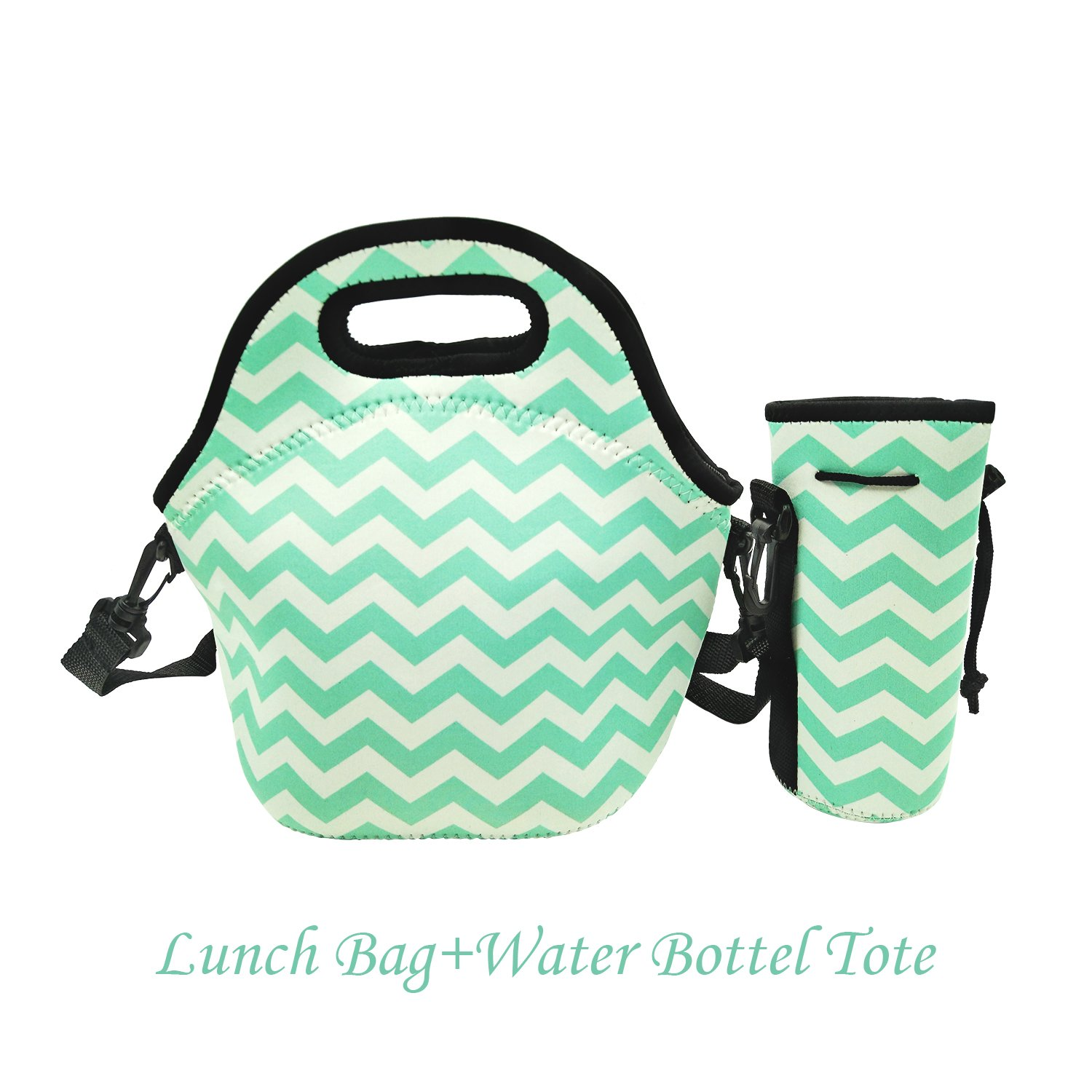 Amerzam Neoprene Lunch Bags/Lunch Boxes Waterproof Outdoor Travel Picnic Lunc.. 16