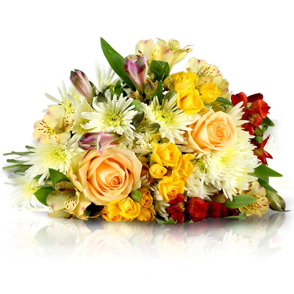MIFLORA Blumenstrauß, gelb, 50 x 30 x 20 cm