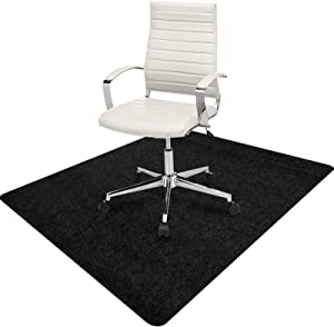 Chair Mat, Office Chair Mat for Hardwood Floor Computer Desk Mat for Office Chair Floor Protector for Rolling Chair, 35 x 47 Inches 0.16 Thick Professional Protector Mat (Black)