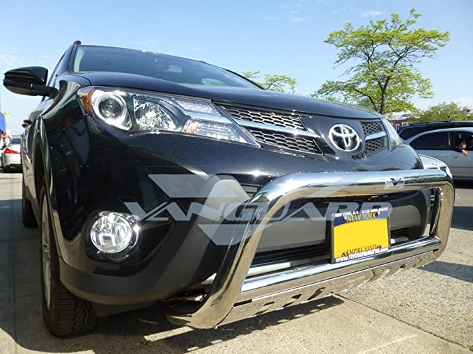 Wide Bull Bar with Skid Plate 3 S//S Vanguard VGUBG-0453HUSS Compatible with Toyota RAV4 2006-2017 Excluding SE Model