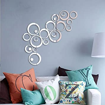 Buy Saifee Acrylic 3D Home Office Dcor Wall Sticker Circles