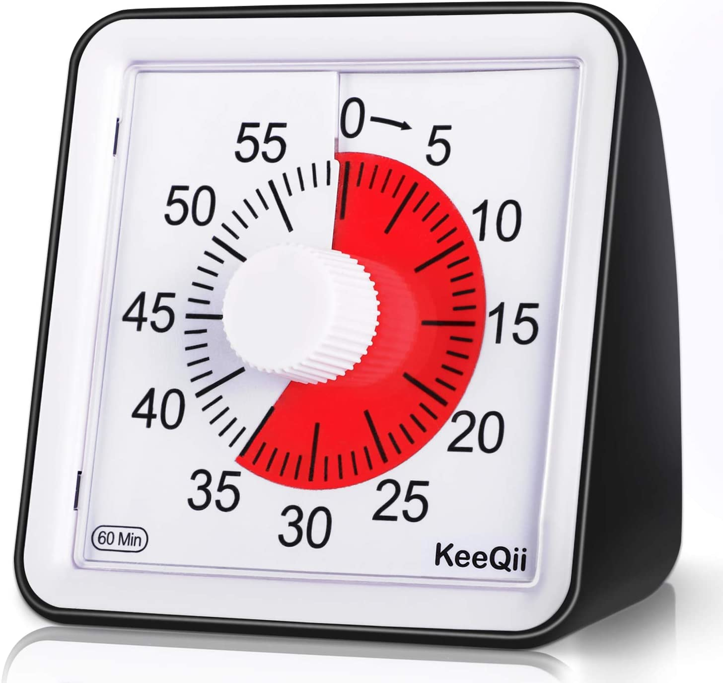 KeeQii Visual Timer,60 Minute Kids Timer, 3.1 inch Silence Countdown Clock - Classroom or Meeting Timer for Kids and Adult