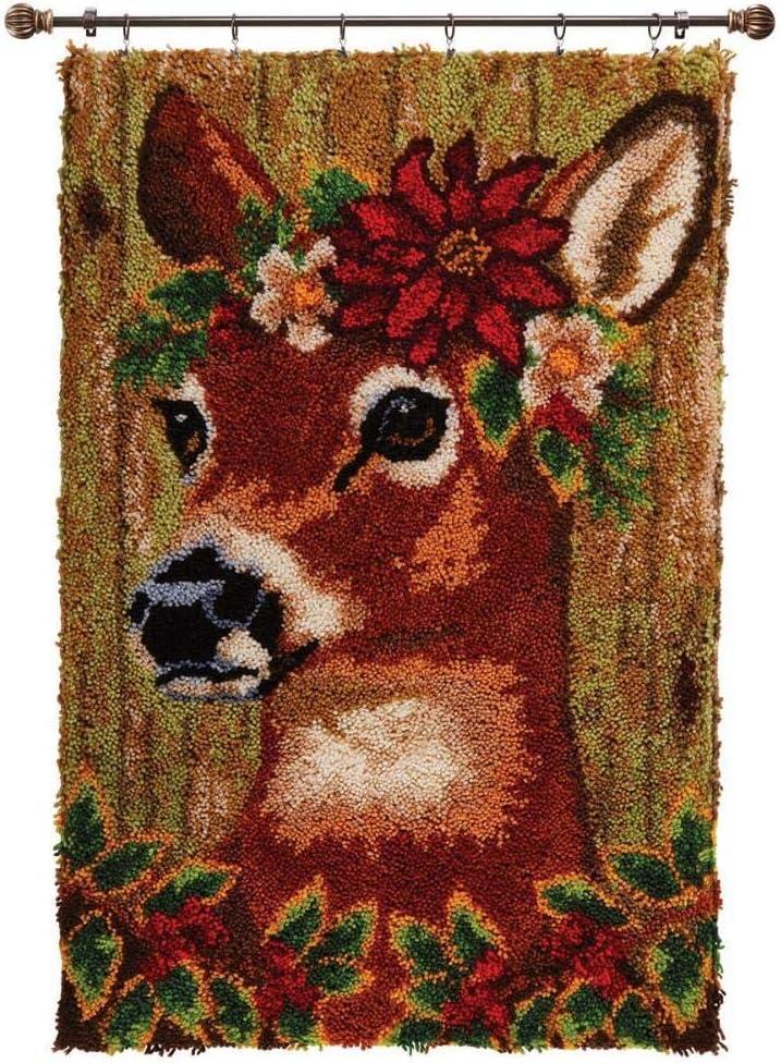 Herrschners/® Happy Holly-Deer Latch Hook Kit