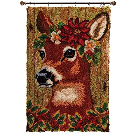 Herrschners/® Christmas Lodge Deer Stocking Latch Hook Kit