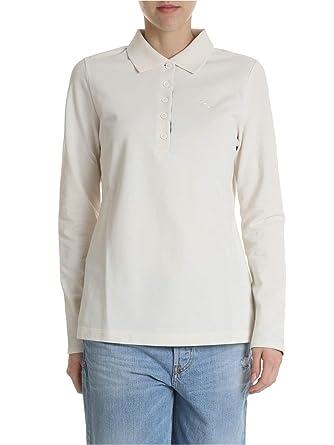 29a170f6416 BURBERRY Femme 8004799 Beige Coton Polo  Amazon.fr  Vêtements et ...