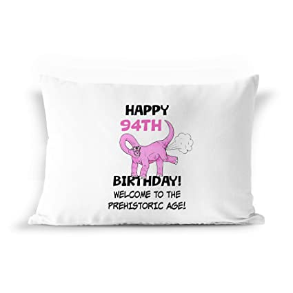 BarborasBoutique 94th Birthday Dinosaur Gift Pillow Case