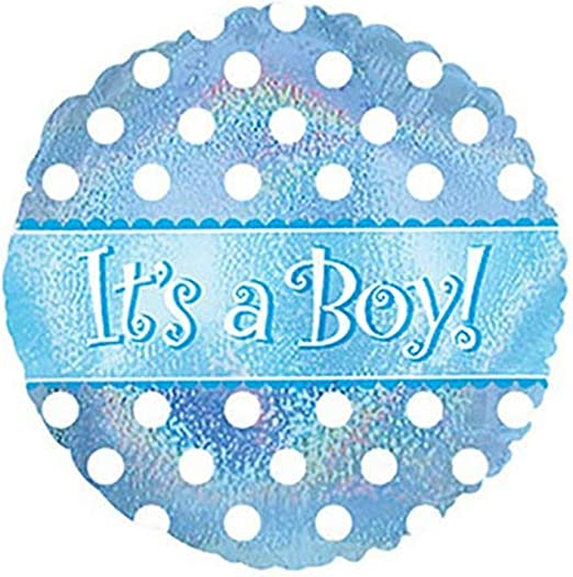 CTI Balloons Foil Balloon 114040 Its A Boy Dots Dazzeloons 17 Multicolor