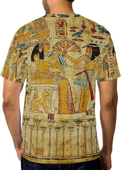 Camiseta para Hombres niños papiro Egipcio Antiguo Manga Corta Personalizada: Amazon.es: Ropa y accesorios