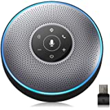 Bluetooth Speakerphone - M2 Gray Conference Speaker w/Dongle, Idea for Home Office 360º Voice Pickup 4 AI Echo & Noise Cancel