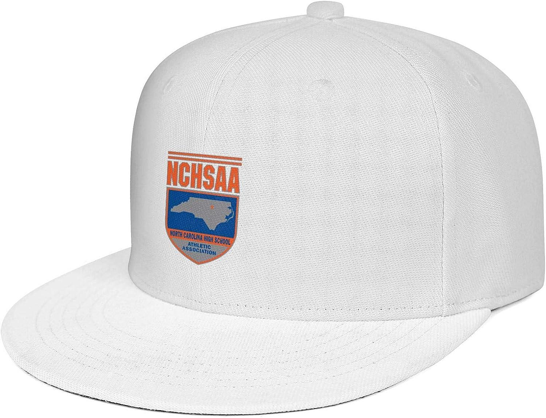 Adult Baseball Cap Sport Style Designer Adjustable Snapback Closure North-Carolina-High-School-Athletic-Association-Logo