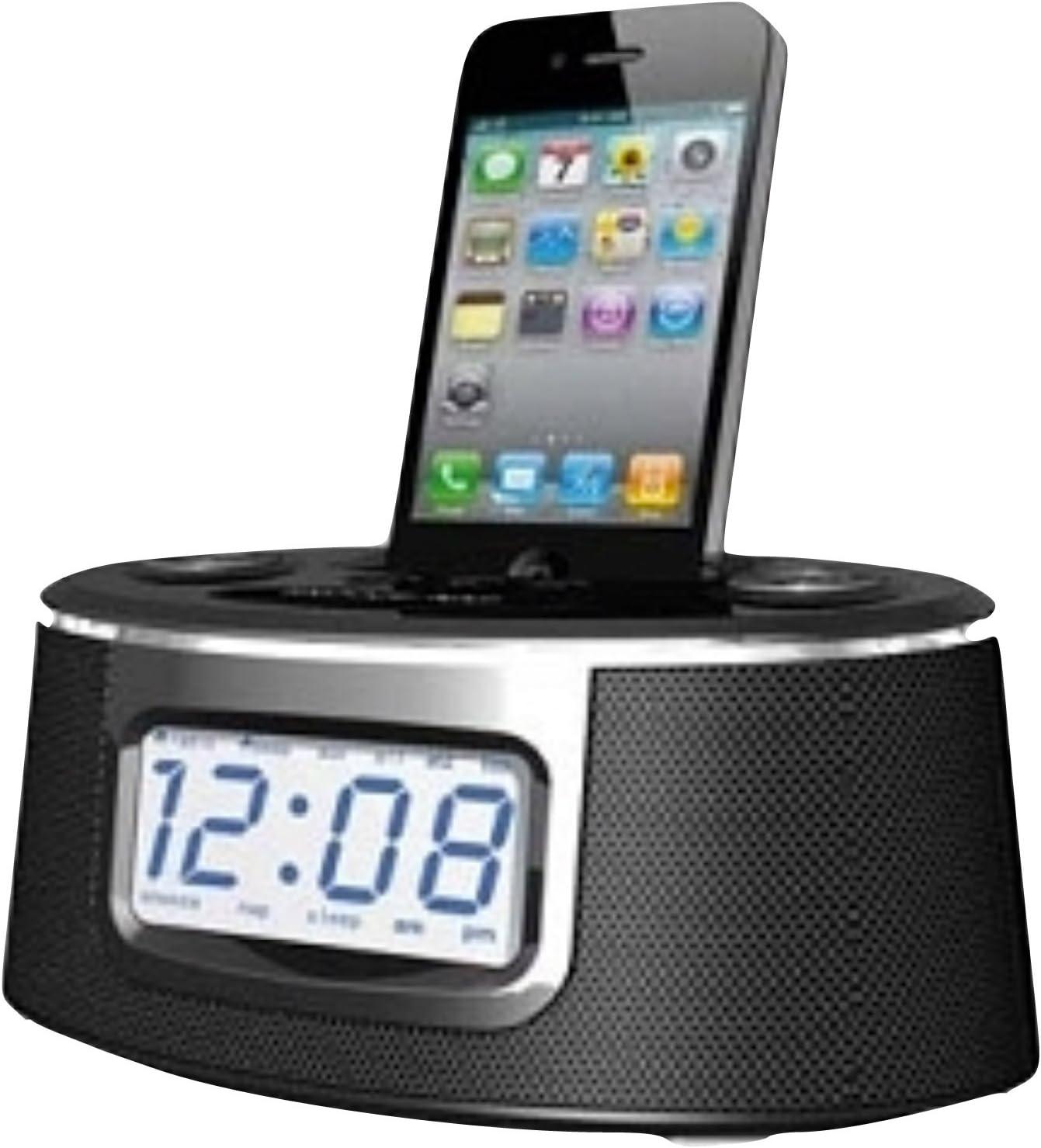Cresta IPD300 Negro Acoplamiento Altavoz - Altavoces (iPhone,iPod, LCD, Negro, Digital, Corriente alterna, Batería, AAA)