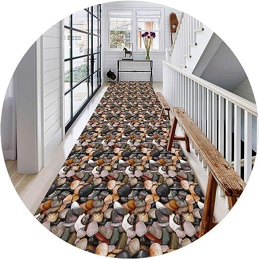 ZHAOHUI-alfombras pasillo Rectangular Alfombras 3D Guijarro Moderno Habitación Escalera Entrada Tamaños Múltiples (Color : A, Size : 0.6x3m): Amazon.es: Hogar