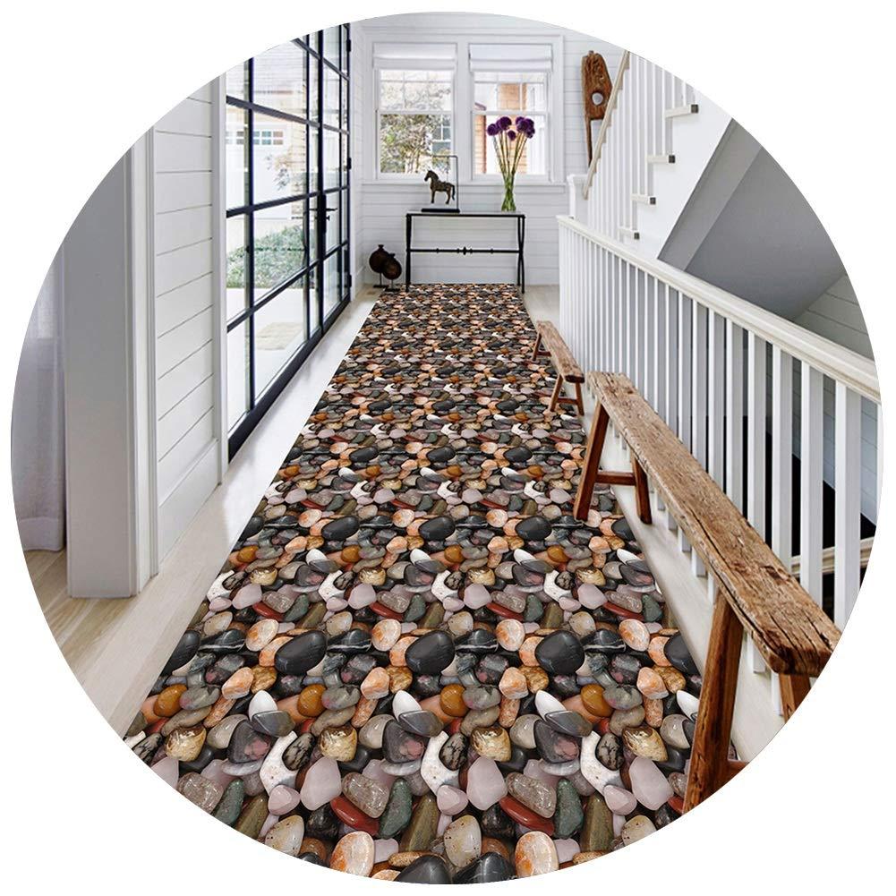 YANGJUN 3D 廊下敷きカーペット ラグ ランナー 洗える イージーケア 柔らかい 滑り止め 印刷 床 玉石 カッタブル カスタマイズ可能 (色 : A, サイズ さいず : 1.4x7m) B07SDP8C9G A 1.4x7m