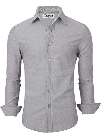 88ca458fac39 TAM WARE Men's Casual Plain Oxford Cotton Button Down Dress Shirt at Amazon  Men's Clothing store:
